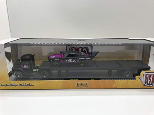 - M2 Machines Auto-Haulers 1956 Ford COE & 1970 Ford Mustang Racing R20 16-13 Black/Purple Details Like NO Other! Over 42 Parts 1 of 5600