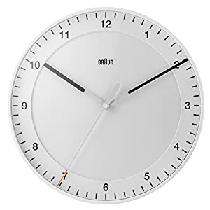 Marrón Relojes de Pared Analógico plástico White bnc017whwh 3