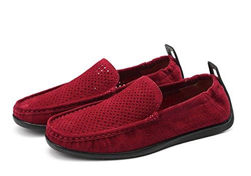 Gris Red foncé Bleu Bateau Chaussures 364 Maille Rouge Supérieur Daim d'été NBWE Chaussures Plates Mocassins Beige PZxAz