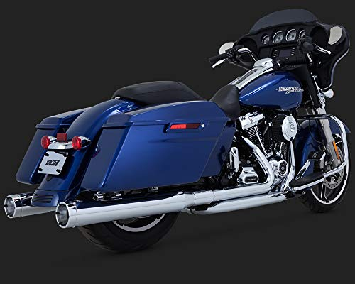 17-19 HARLEY FLHX2: Vance & Hines Monster Rounds Slip-On Exhaust (Chrome With Chrome Tips) ()