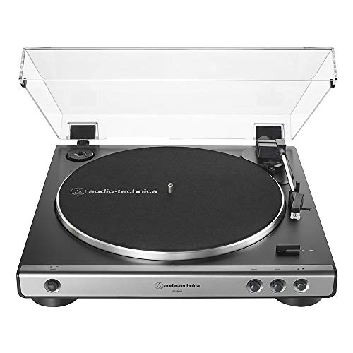 Find Discount Audio-Technica At-LP60X-GM Fully Automatic Belt-Drive Stereo Turntable, Gunmetal/Black...