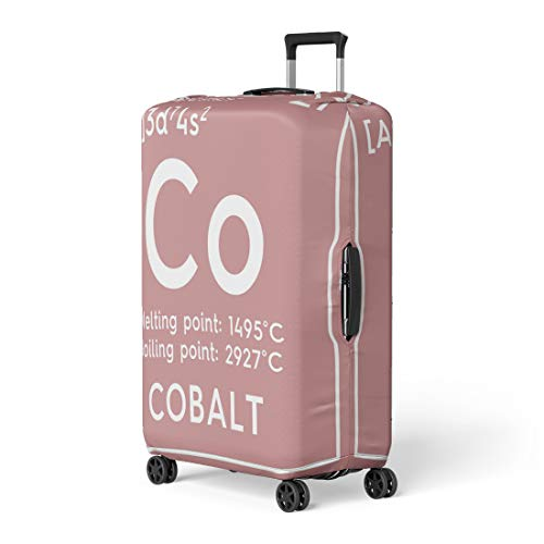 Pinbeam Luggage Cover Cobalt Transition Metals Chemical of Mendeleev Periodic Table Travel Suitcase Cover Protector Baggage Case Fits 26-28 ()