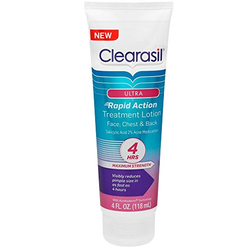 Clearasil Ultra Rapid Action Treatment Lotion, 4 fl. Oz, for face, chest & back (Treatment Face Lotion)