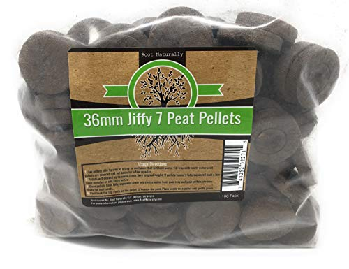 Root Naturally Jiffy-7 36mm Peat Pellets - 100 Count by Root Naturally
