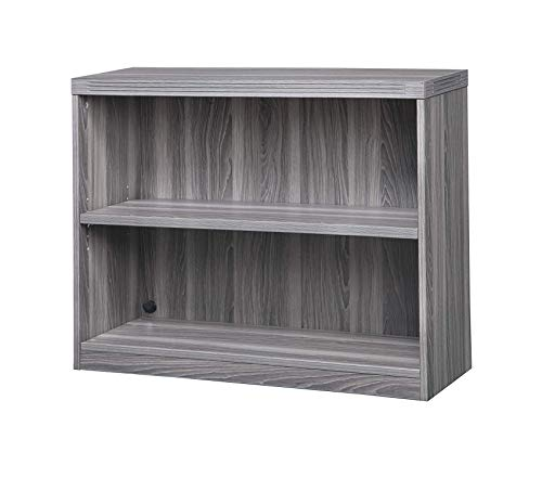 Sаfcо Prоducts Deluxe Premium Collection Bookcase 2 Shelf Gray Steel Tf Decor Comfy Living Furniture