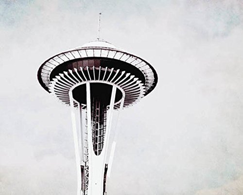 Seattle Space Needle Photography Urban Decor 5x7 inch print