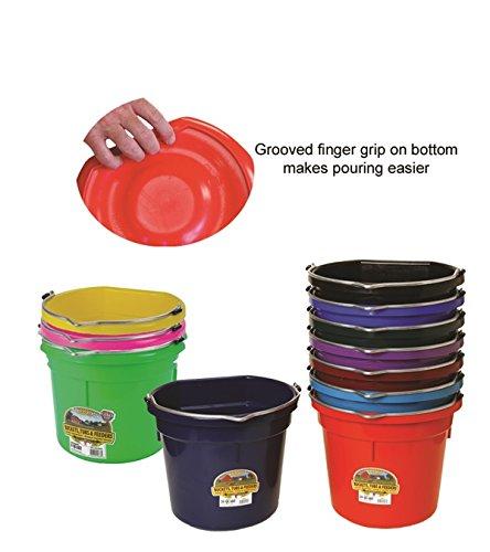 - Little Giant Farm & Ag P20FBBLUE 20 Quart Blue Flat Plastic Bucket