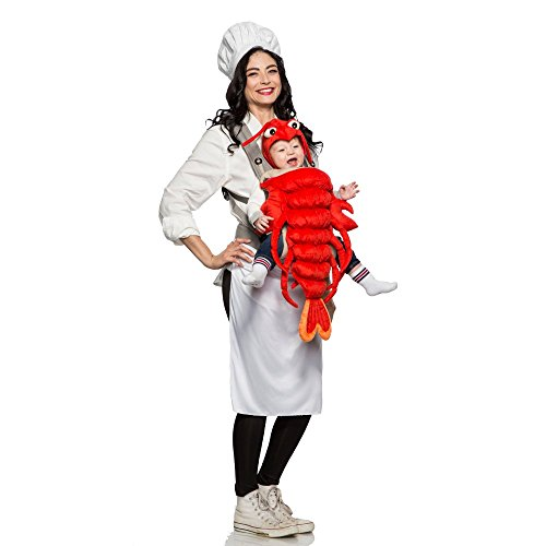 Parents Baby Halloween Costumes (Master Chef & Maine Lobster Costume -)