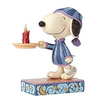 - Peanuts by Jim Shore Nighttime Snoopy W/Candle Bedtime Beagle Figurine