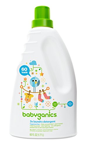 Price comparison product image Babyganics 3X Baby Laundry Detergent, Fragrance Free, 60 Fluid Ounce