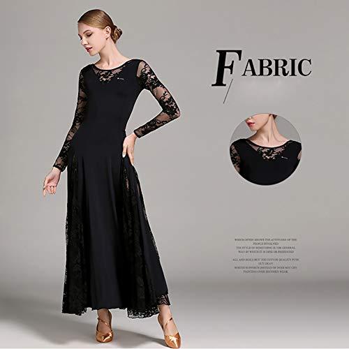 Gonna Flessibile Abiti amp;r Pizzo Dhtw Palcoscenico Costumi Danza Concorrenza Black Donna Adulto Festa Giuntura Vestito Elegante n4080Yqw
