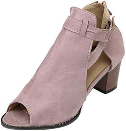 ボコダダ(Vocodada)サンダル 通勤靴 おしゃれ 流行 カジュアル 旅行 歩きやすい 便利 靴 美脚 彼女 女性 無地 痛くない 抗菌 大学生 バレンタイン 人気INS 無地 正方形のヒール ローマンサンダル 春夏 ジッパー付き
