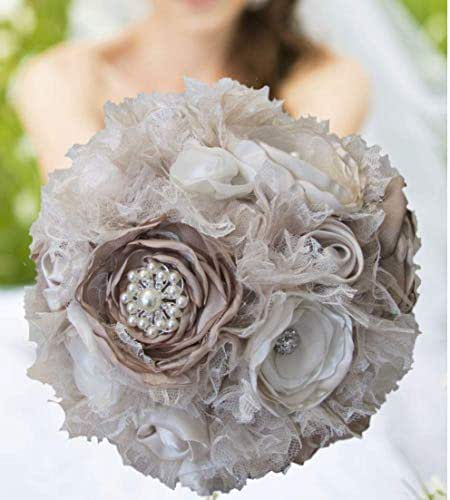 Whole Foods Wedding Bouquet: Amazon.com: Champagne Ivory Taupe Wedding Bouquet