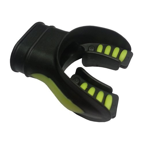 Innovative Comfort Cushion Mouthpiece Less Jaw Fatigue (Black / Yellow)