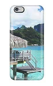 Iphone 6 Plus UqYma4937aKSmH Bora Bora Bungalow Tpu Silicone Gel Case Cover. Fits Iphone 6 Plus