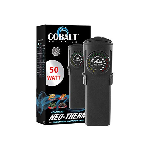 Cobalt Aquatics Flat Neo-Therm Heater with Adjustable Thermostat (Fully-Submersible, Shatterproof Design) from 25W to 300W ()