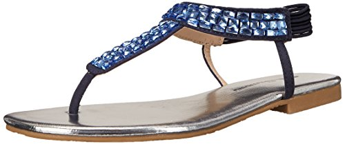 CL by Chinese Laundry Womens Natalina Flat Dress Sandal Indigo Micro Suede 0ADYQKqi