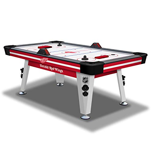 NHL Air Powered Hockey Table - Detroit Red Wings - 84 Inch-  Features Scratch Resistant Material, Automatic Scoring, and Built-In Accessory Storage -