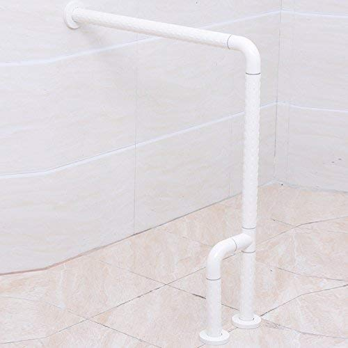 ACHKL Stainless Steel handrail 600MM Disability Elderly Antimicrobial Nylon u-Style handrails handrails 600mm Yellow (Size : 600700mm White)