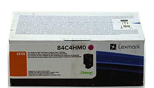 Toner Lexmark Cx725 Part 84C4Hm0 Magenta Original Novo