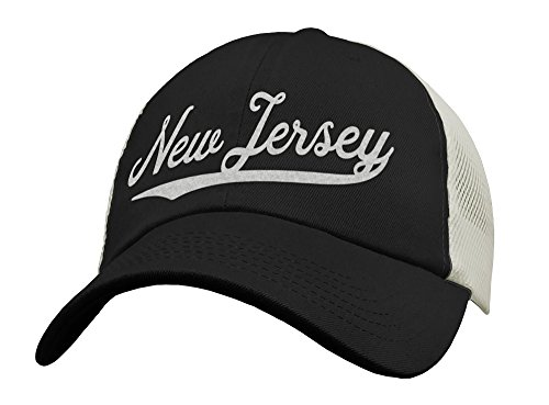 State of New Jersey Trucker Hat Baseball Cap - Snapback Mesh Low Profile Unstructured Sports - NJ USA