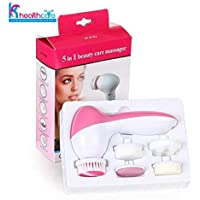 KS HEALTHCARE 5-In-1 Smoothing Body Face Beauty Care Facial Massager (Colour May Vary)