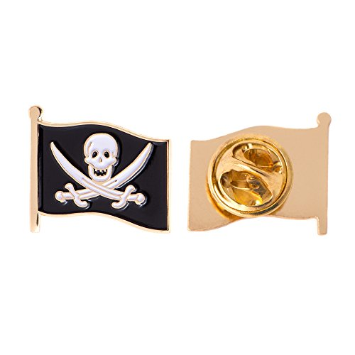 Discount Pins Pirate Jack (Swords) Flag Lapel Pin Enamel