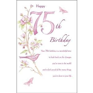 Amazon Com Happy 75th Birthday Birthday Greetings Card Home