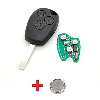 Renault - Llave más sistema electrónico, con 3 botones, para ...