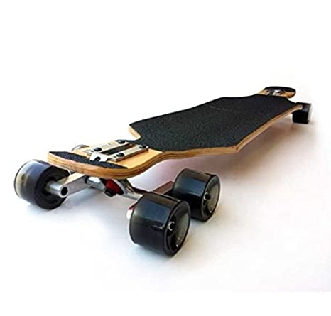Black Tandem Axle Wheel Kit Set for Skateboard Cruiser Longboard Penny Truck