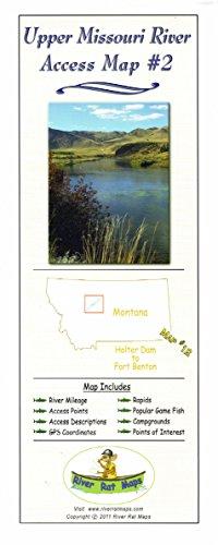 "Montana River Rat Maps: Access Maps (4""x10"" Folded, Upper Missouri River#2)"