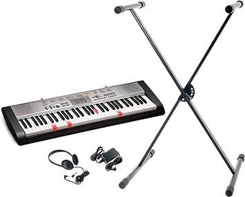 Casio Pack LK-130 teclado negro + accesorios: Amazon.es: Instrumentos musicales