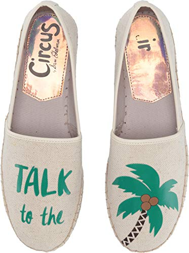 (Circus by Sam Edelman Women's Leni-36 Ivory (Talk to The Palm) Two-Tone Heavy Canvas 8 M US)