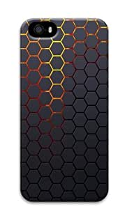 iPhone 5S Case Cover - Hexagonal Grid Background Custom Design Polycarbonate 3D Back Case Cover Compatible with iPhone 5S and iPhone 5