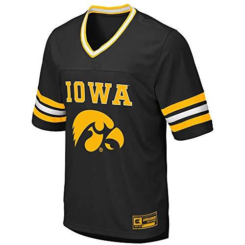 Black Iowa Hawkeyes Football Jersey - Colosseum Mens Iowa Hawkeyes Football Jersey - L