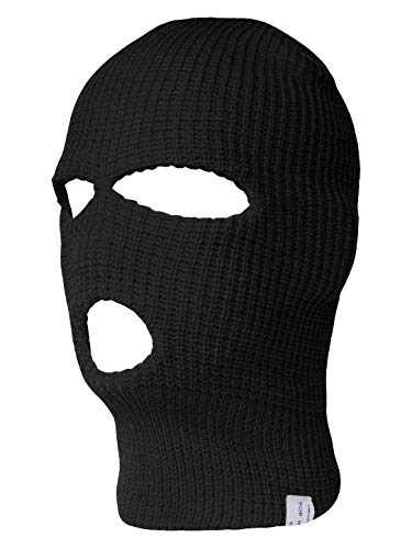- TopHeadwear 3-Hole Ski Face Mask Balaclava, Black