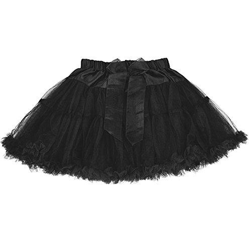 LCLHB 2T Black Tutu Short Ballet Tulle Tutu Skirt for Baby Toddler for $<!--$5.99-->