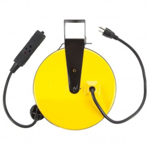 retractable extension cord retractable power cord reel 13023