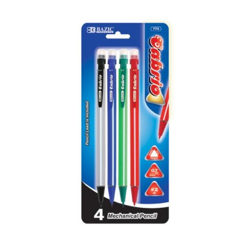 BAZIC Cabrio 0.7 mm Triangle Mechanical Pencil (4/Pack) Case Pack 144 Computer, -