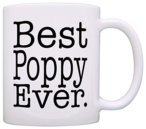 (Lollita Father's Day Gift for Grandpa Best Poppy Ever Gift Coffee Mug Tea Cup White 11 OZ)