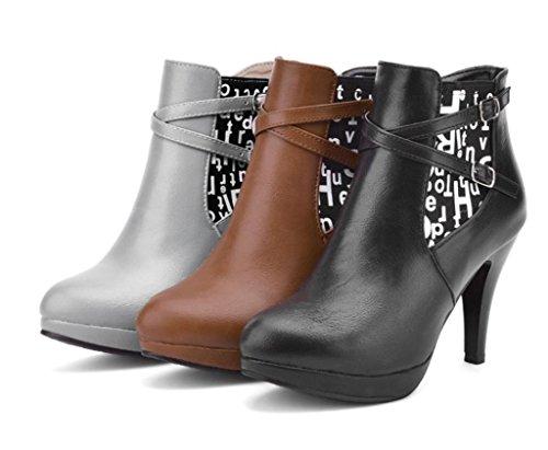 D'ufficio Col Grandi Dimensioni Tacchi Lavoro Di Delle Chelsea Eleganti Scarpe Di Personalità Tacco Marrone Signore Donne Hetao Boots Di Scarpe Elevate Modo Temperamento adzOqwx8x