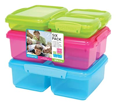 Sistema Klip It 6-Pack Containers, Value Pack by Sistema