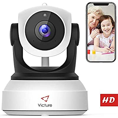 ?NEW VERSION?Victure WiFi IP Camera 720P HD Wireless Indoor Home Security Surveillance Camera with Night Vision Motion Detection Playback 2-Way Audio Dome Home Monitor for Baby Elder Pet Pan/Tilt/Zoom from victure