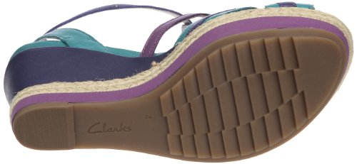 Clarks Scent Trail 20350171 Damen Sandalen/Fashion-Sandalen Blau (Multicolour Lea)