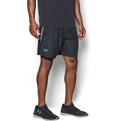 aunch Printed 7'' Shorts, Black/Steel, Large (Steel Mens Shorts)