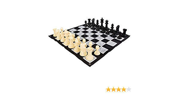 """New 8 1//2"""" x 7"""" Nylon Chess Pieces Bag Holds Full Set Chess Pieces Black"""
