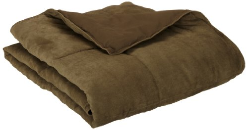 Aeolus Down Olive Microsuede Down Alternative Throw ()