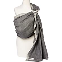 Hip Baby Wrap Ring Sling Baby Carrier for Infants and Toddlers (Midnight)