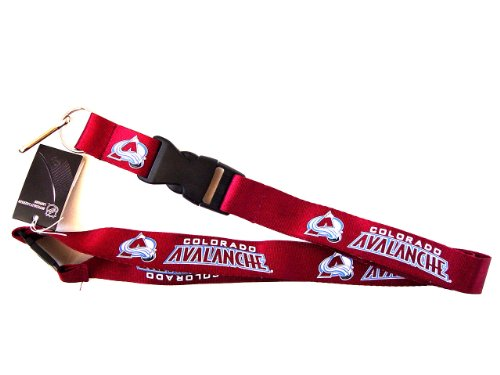 NHL Colorado Avalanche Sports Collegiate Team Logo Clip Lanyard Keychain Id Ticket - Red