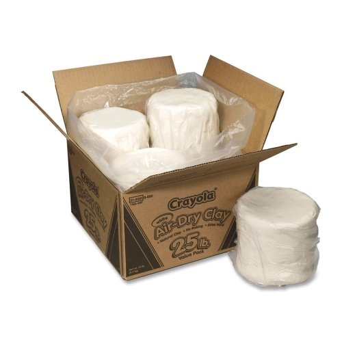 Wholesale CASE of 5 - Crayola 25 lb. Air-Dry Clay-Air Dry Clay, 25 lb., 4 Slugs/PK, White by CYO